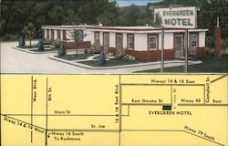 Evergreen Motel Postcard