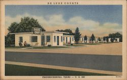 Deluxe Courts Postcard