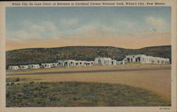 White City Deluxe Court, at entrance to Carlsbad Cavern National Park Postcard