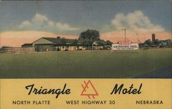 Triangle Motel - West Highway 30 Postcard