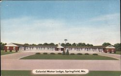 Colonoal Motor Lodge, West Highway 166 Postcard