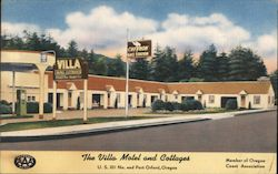 The Villa Motel and Cottages - U.S. 101 No. end Port Orford, Oregon Postcard