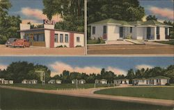 Glenwood Motel & Restaurant Postcard
