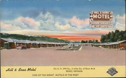 Hill & Sons Motel - One of the great motels in the west - On U.S. 395 So., 2 miles So. of Reno Arch Postcard