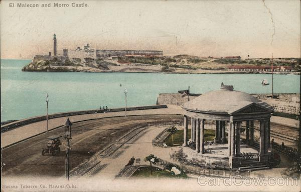El Malecon and Morro Castle Havana Cuba
