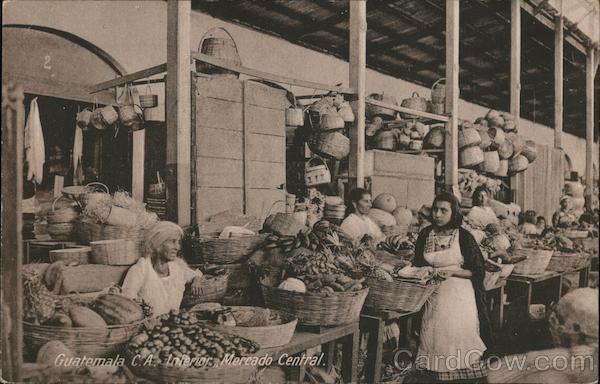 Guatemala C.A. Interior, Mercado Central Central America