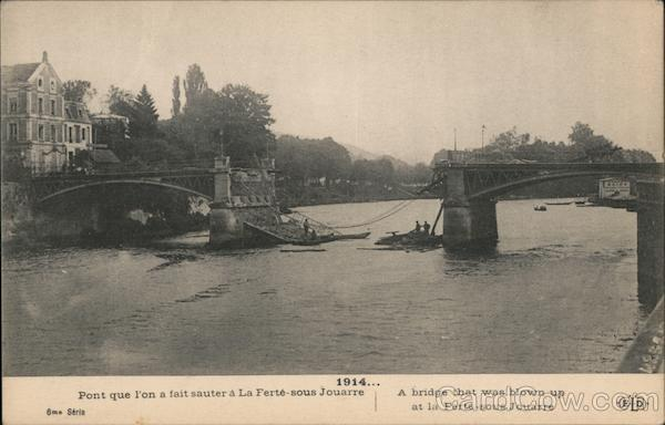 A bridge that was blown up at la Ferté-sous Jouarre France