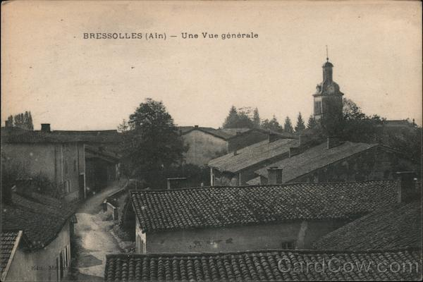 General view of Bressolles (Ain) France