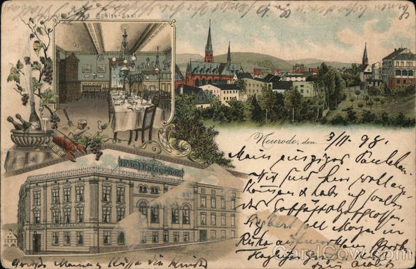 Hotel Kaiserhof, Speisesaal Neurode Germany