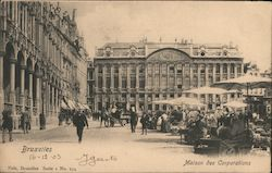 Bruxelles, Maison des Corporations Postcard
