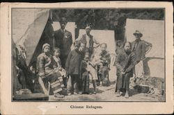 Chinese Refugees Postcard