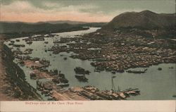 Bird's-eye View of Wu Chow (West River) Postcard