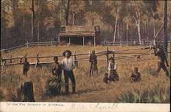 The Far Interior of Australia - with indigenous people Postcard