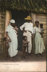 A Family Group in Cuba Postcard