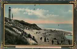 Back Beach, Lower Light and Beacon Postcard