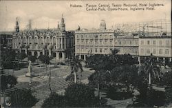 Central Park, Opera House and Inglaterra Hotel Postcard