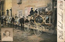 The Funeral Car Postcard