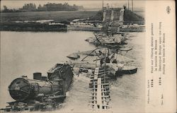 Destroyed rail bridge in the battle of Meaux Postcard