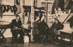 Spinning and Weaving St Kilda Tweed Postcard