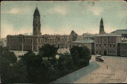 G.P.O. Victoria Square Town Hall ADELAIDE Postcard