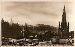 Mound Castle and Scott Monument Postcard