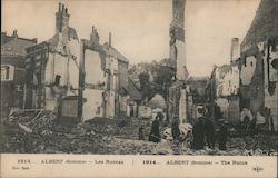 1914 Albert (Somme) - The Ruins Postcard