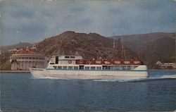 "Motor Ship ""Catalina Aloha"" arriving at Avalon Postcard"