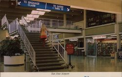 San Jose Municipal Airport Postcard