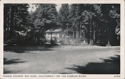Tennis Courts on the Russian River Postcard