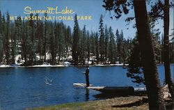 Summitt Lake, Mt. Lassen National Park Postcard