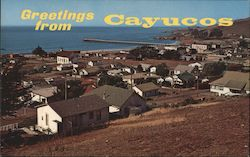 Seacoast Town Noted for Fishing and Summer Beach Fun Postcard