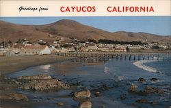 Greetings from Cayucos Postcard