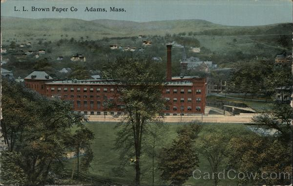 L.L. Brown Paper Co Adams Massachusetts