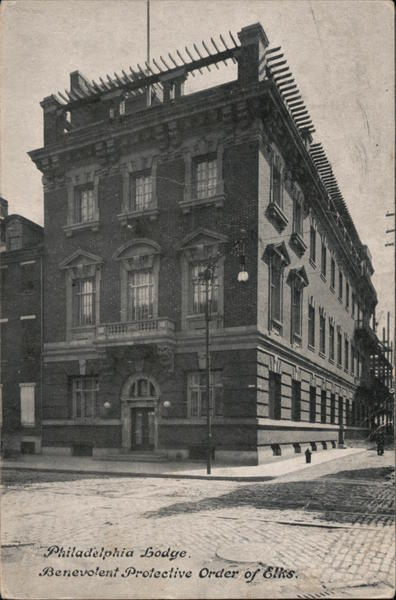 Philadelphia Lodge Benevolent Protective Order of Elks Boston Massachusetts