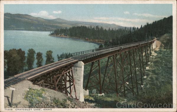 Chatcolet Lake Railroad Trestle Saint Maries Idaho