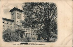 New York Institute of Feeble Minded Children Postcard