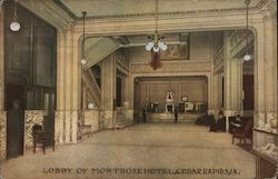 Lobby of Montrose Hotel Postcard