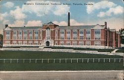 Western Commercial Technical School Postcard
