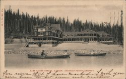 Lake Louise Chalet, Banff - Canadian Pacific Railway Postcard