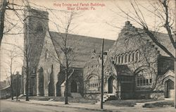 Holy Trinity and Parish Building Postcard