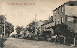 Main Street, Chester Co. Postcard