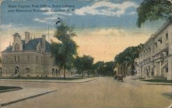 State Capitol, Post Office, State Library and Historical Buildings Postcard