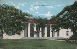 Library of Hawaii (Hawaii State Library) Postcard