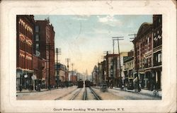 Court Street Looking West Postcard