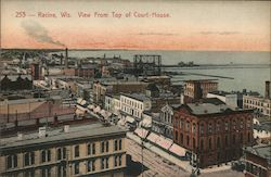 View from Top of Court House Postcard