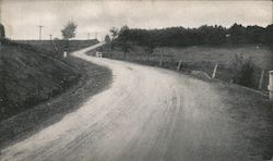 "Canajoharie-Sharon Springs road constructed with ""Bermudez Road Asphalt"" as a binder. Postcard"