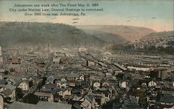 Johnstown One Week After the Flood May 31, 1889 Postcard