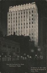 Old National-City Bank Building by Night Postcard