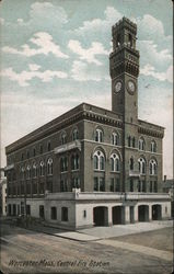 Central Fire Station Postcard