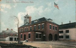 Union St. Fire Station Postcard